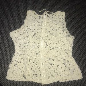 Full Lace Zip Up Back Tank Top